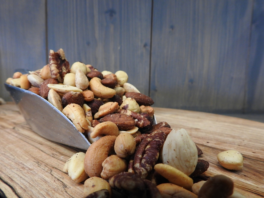 Gemengde noten mix gezouten