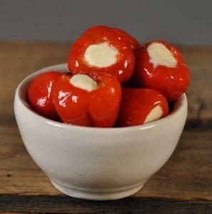 Peppersweets gevuld met roomkaas